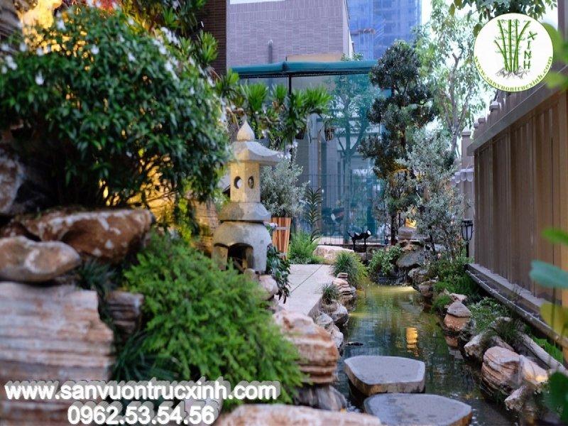 Sân vườn Nhật Bản cho nhà phố