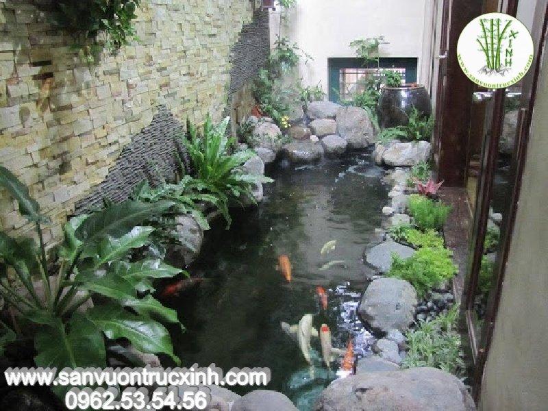 Hồ cá Koi cho sân vườn nhỏ