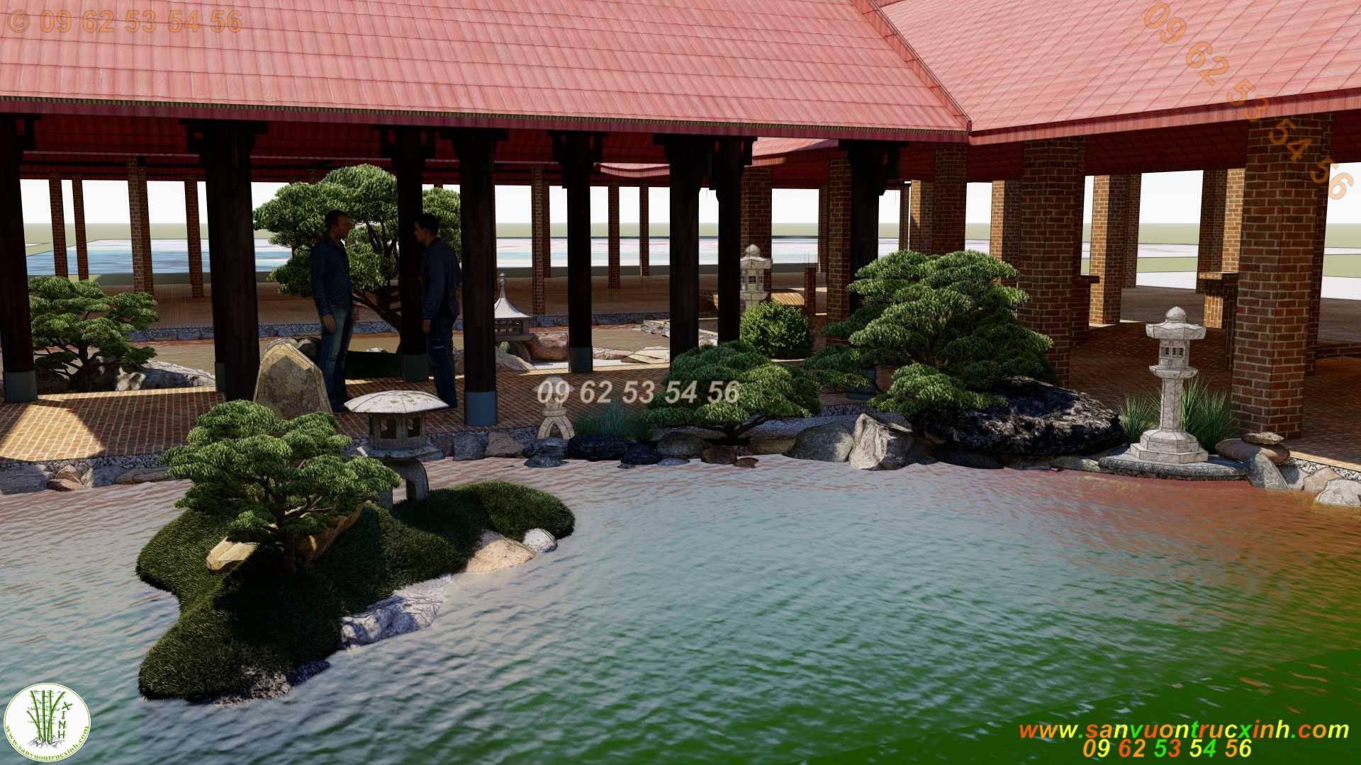 Thiết kế thi công hồ cá Koi Nhật Bản chuyên nghiệp
