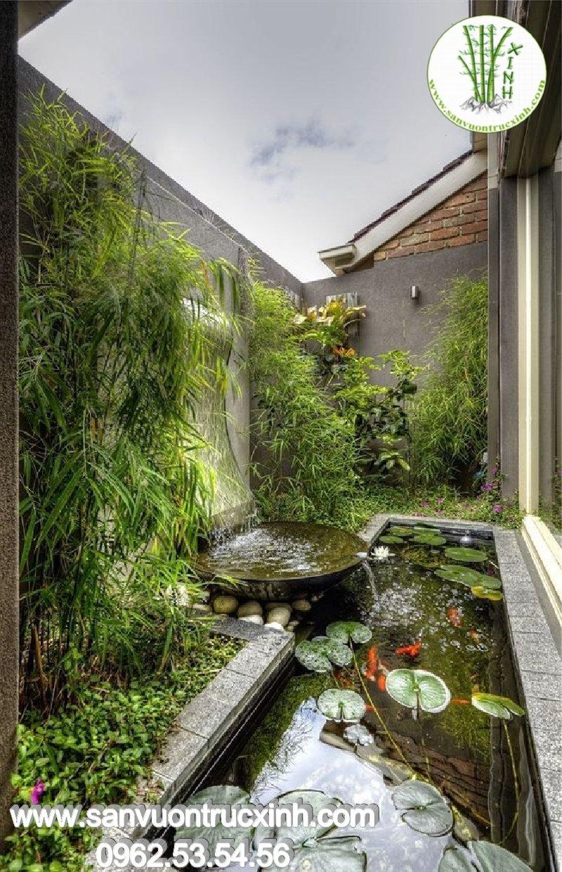 Tiểu cảnh sân vườn đẹp cho nhà phố